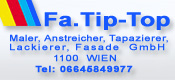 Fa. Tip-Top Wien - Maler, Anstreicher, Tapazierer, Lackierer, Fasade GmbH